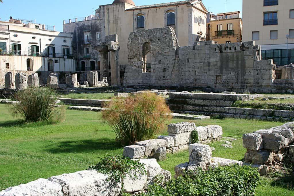 Syrakuzy - Świątynia Apollo.