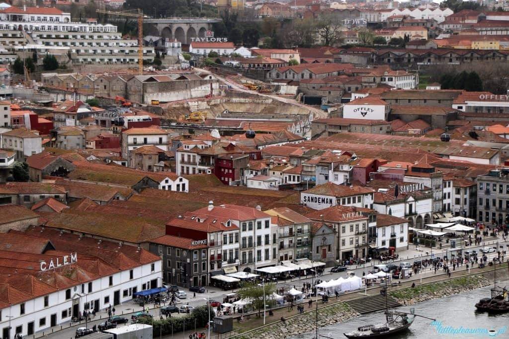 Widok na Vila Nova de Gaia, gdzie warto wybrać się na porto w Porto
