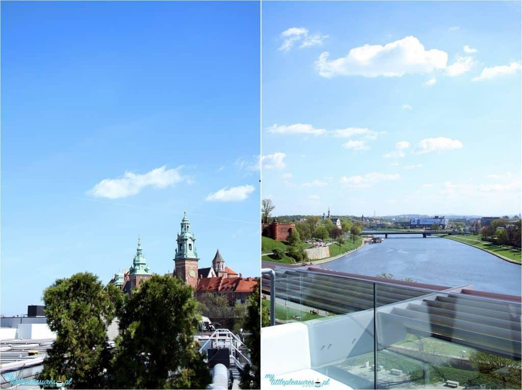 Krakowskie tarasy widokowe - Hotel Sheraton.