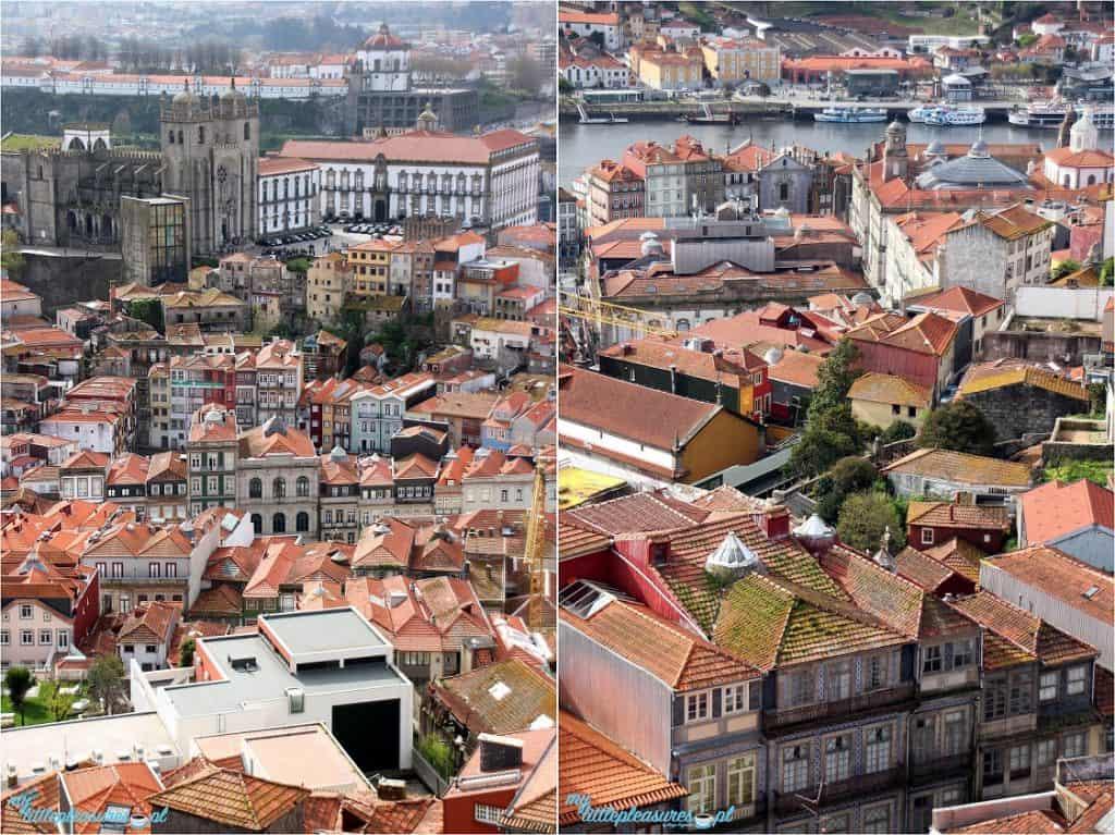 Widok z Torre dos Clerigos, czyli co warto zobaczyć w Porto.