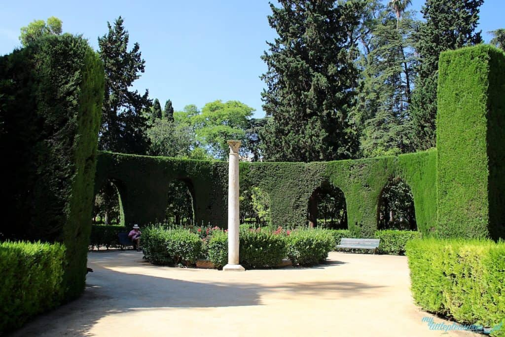 Real Alcazar w Sewilli - ogrody królewskie.