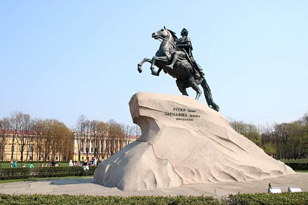 Przewodnik po Petersburgu - Jeździec Miedziany.