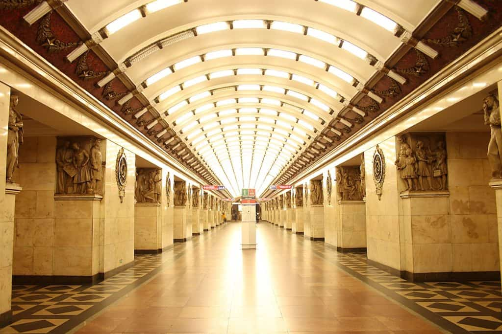 Metro w Sankt Petersburgu - Narvskaya.