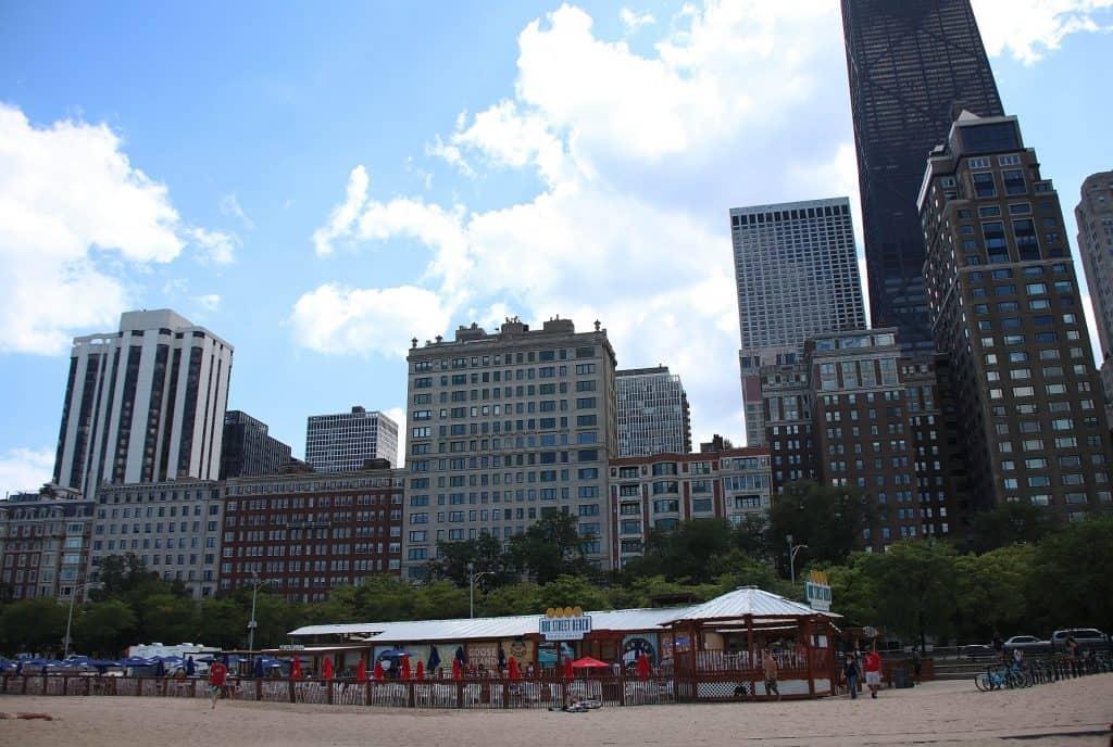 Co warto zobaczyć w Chicago - Oak Street Beach.