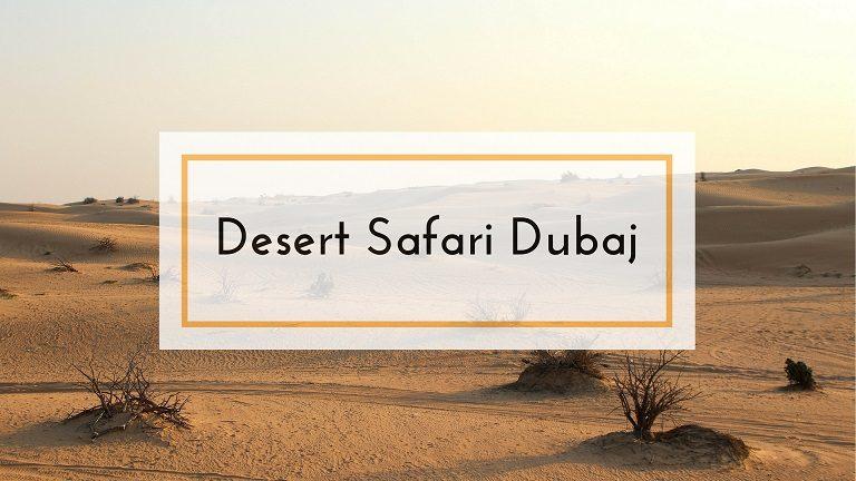 desert safari Dubaj